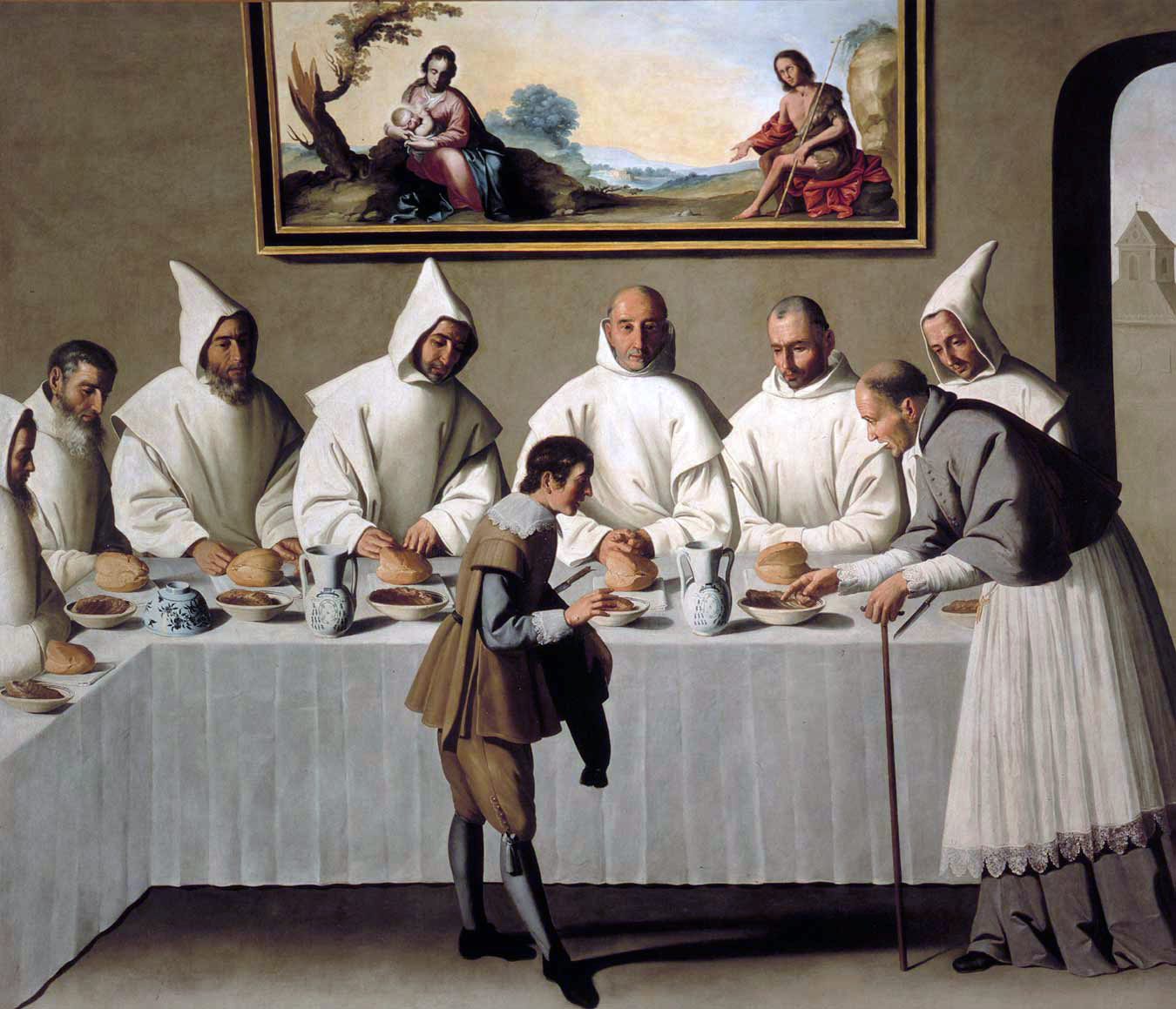 Saint Hugh in the Refectory Francisco de Zurbarán