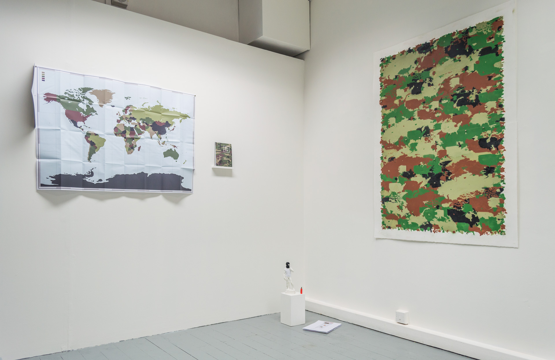 "Exhibition view from ""ACIES"" at The Number Shop, 2017."
